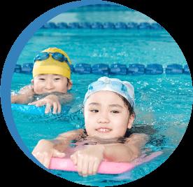 15級から、1級までクラス分けを行い、4泳法を習得していきます。